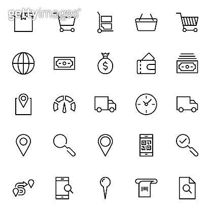 Line icons - Electronic commerce