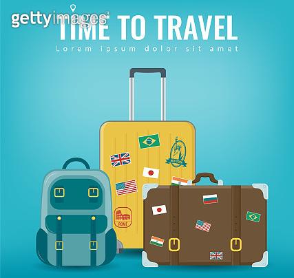 Travel luggage set - icon and illust