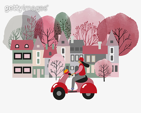 Flat and watercolor background