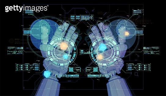 HUD virtual holographic elements