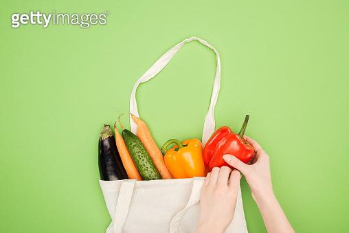 Vegetables in bag