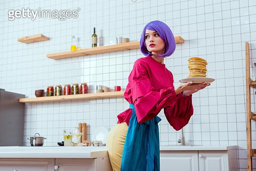 Beautiful girl in kitchen