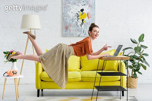 Woman levitating in air 2
