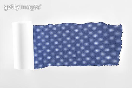 Ragged textured white paper