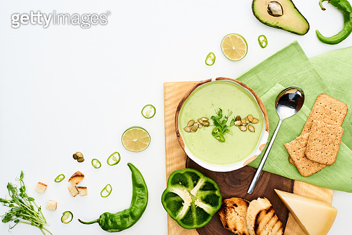Creamy green vegetable soup
