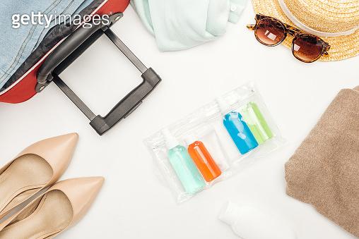 Travel cosmetic bottles