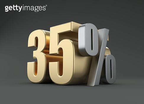 Percent concept 3D Rendered Image