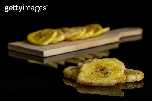 Slices of sweet dry banana