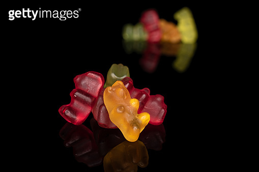 Colorful gummy bear