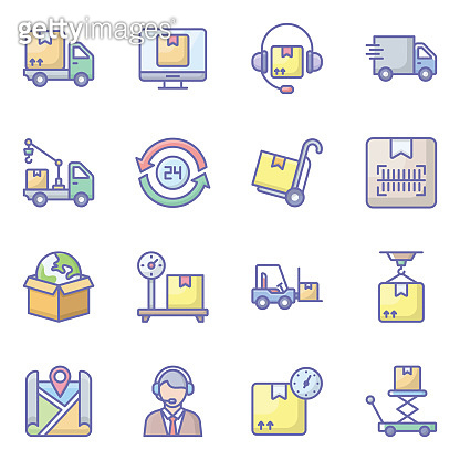 Pack of flat icons