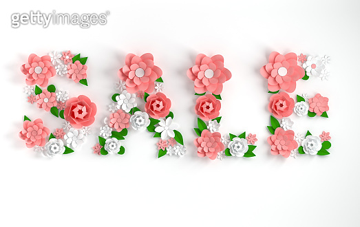 Paper flower alphabet