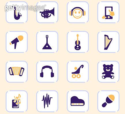 Two tone icon set