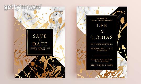 Beautiful set of wedding card templates