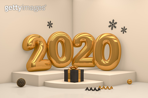 3D New Year, Chtistmas Concept