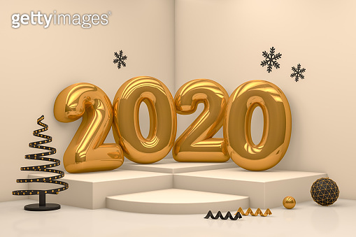 2020 3D New year