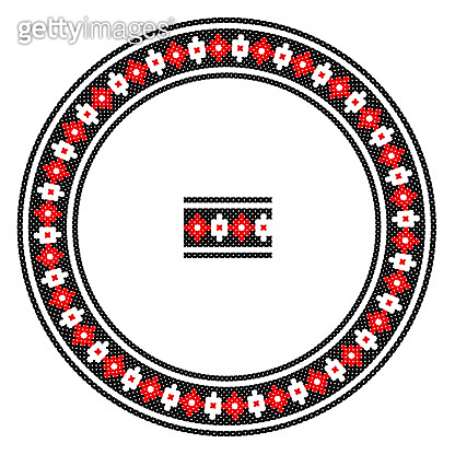 Round ornament in ethnic style pattern