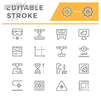 Editable stroke icon set
