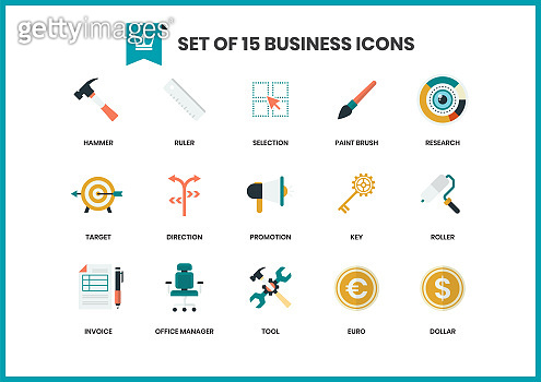 Set of 15 icons