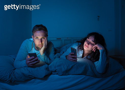 At night on smart phones