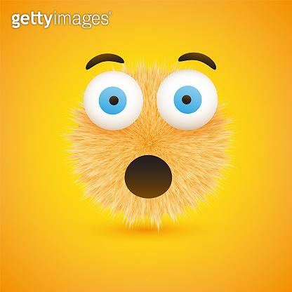Emoticon on Yellow Background