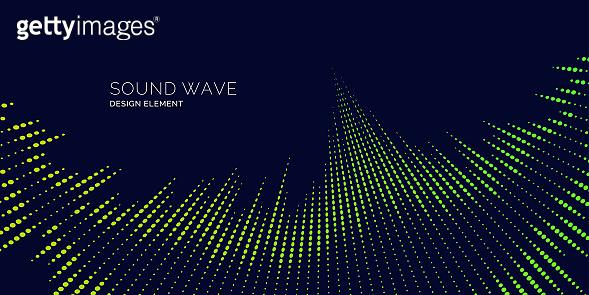 Sound wave equalizer illustration