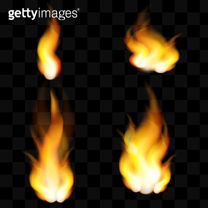 Red Fire sparks vector flying up