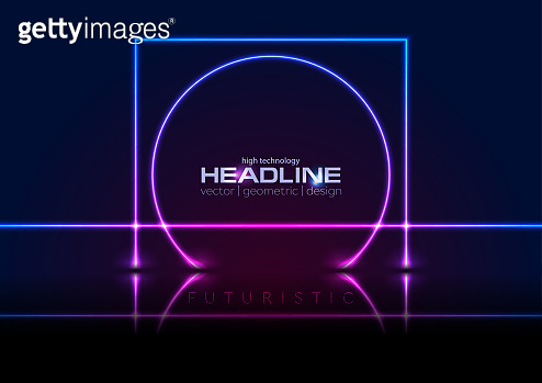 Neon lines abstract background
