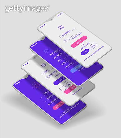 Mobile App UI mockup