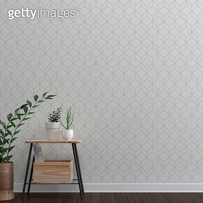 Empty wall background with decoration