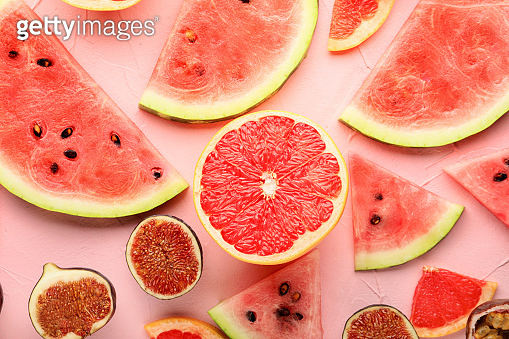 Composition with various fruits
