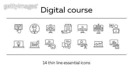 Line icon set 14