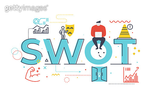 Word lettering illustration