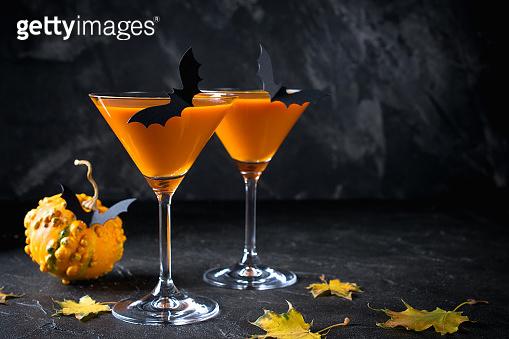 Halloween drink pumpkin martini