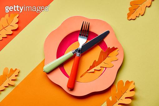 Table setup for Autumn
