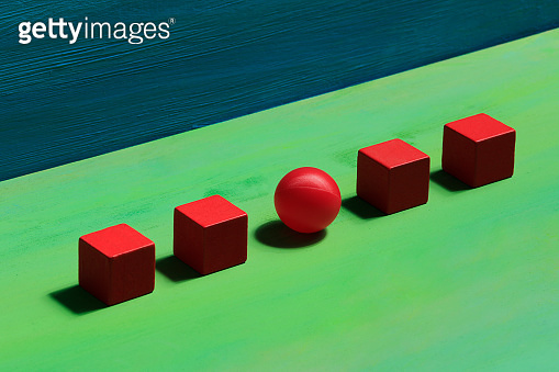 Ball and building blocks