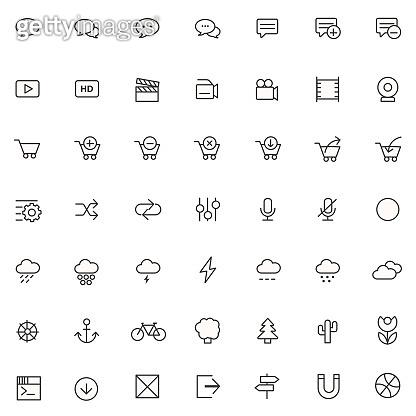 Simple line  - UI icons