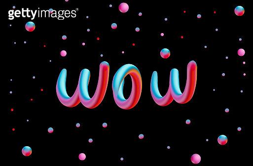 Word neon line