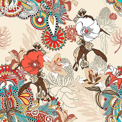Artistic flower pattern