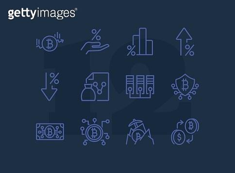 Set of 12 line icon