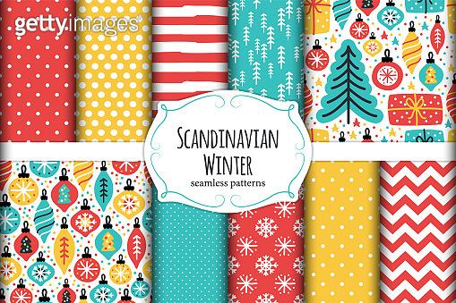 Scandinavian patterns set