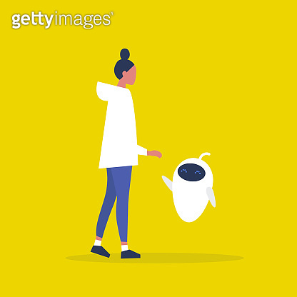 Futuristic service illustration