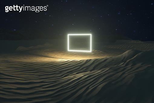 Desert 3d rendering