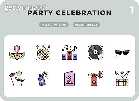 Party Celebration Glyph Icons Pack