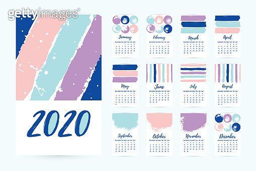 Hand drawn Calendar 2020