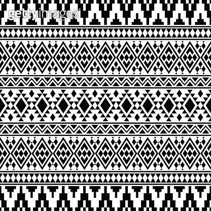 Ikat Ethnic Aztec Pattern Illustration