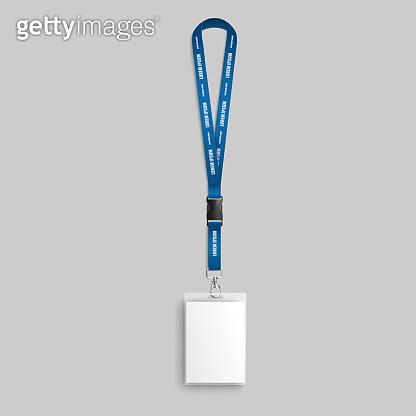 Identification card mockup