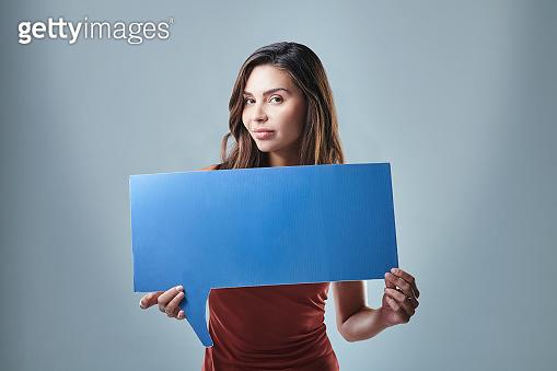 Studio shot of a young woman