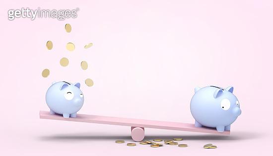 3d rendering - bank Savings