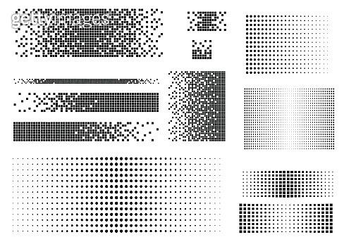 Halftone geometric pattern
