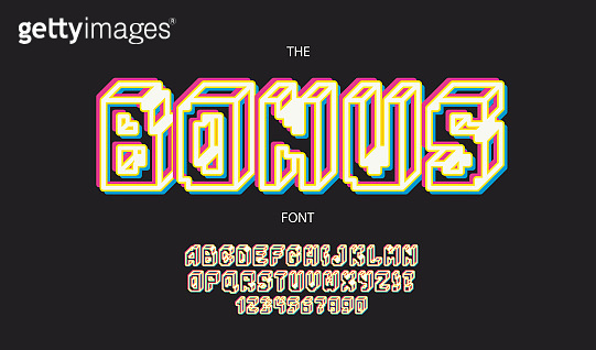 3d bold style font